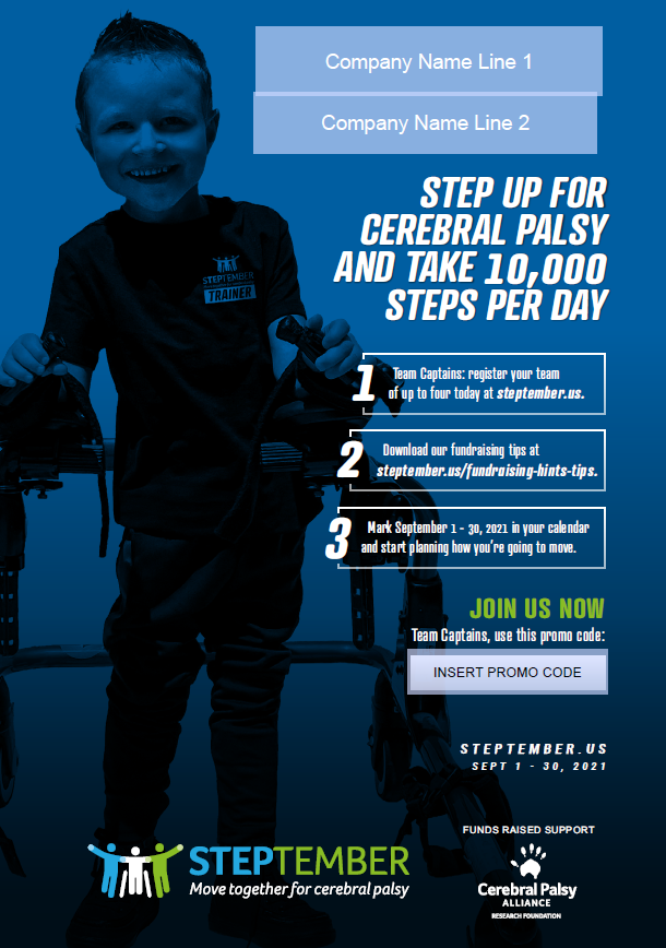 Step Up For Cerebral Palsy Poster